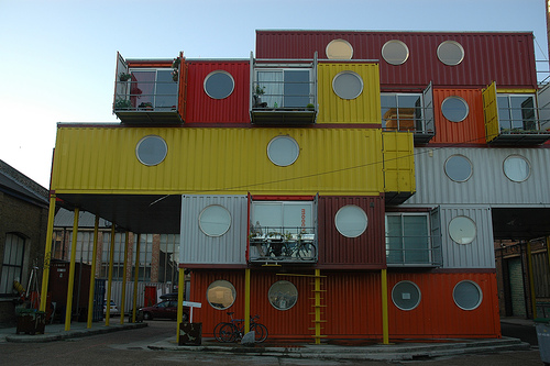 London Container city - Living in a shipping container